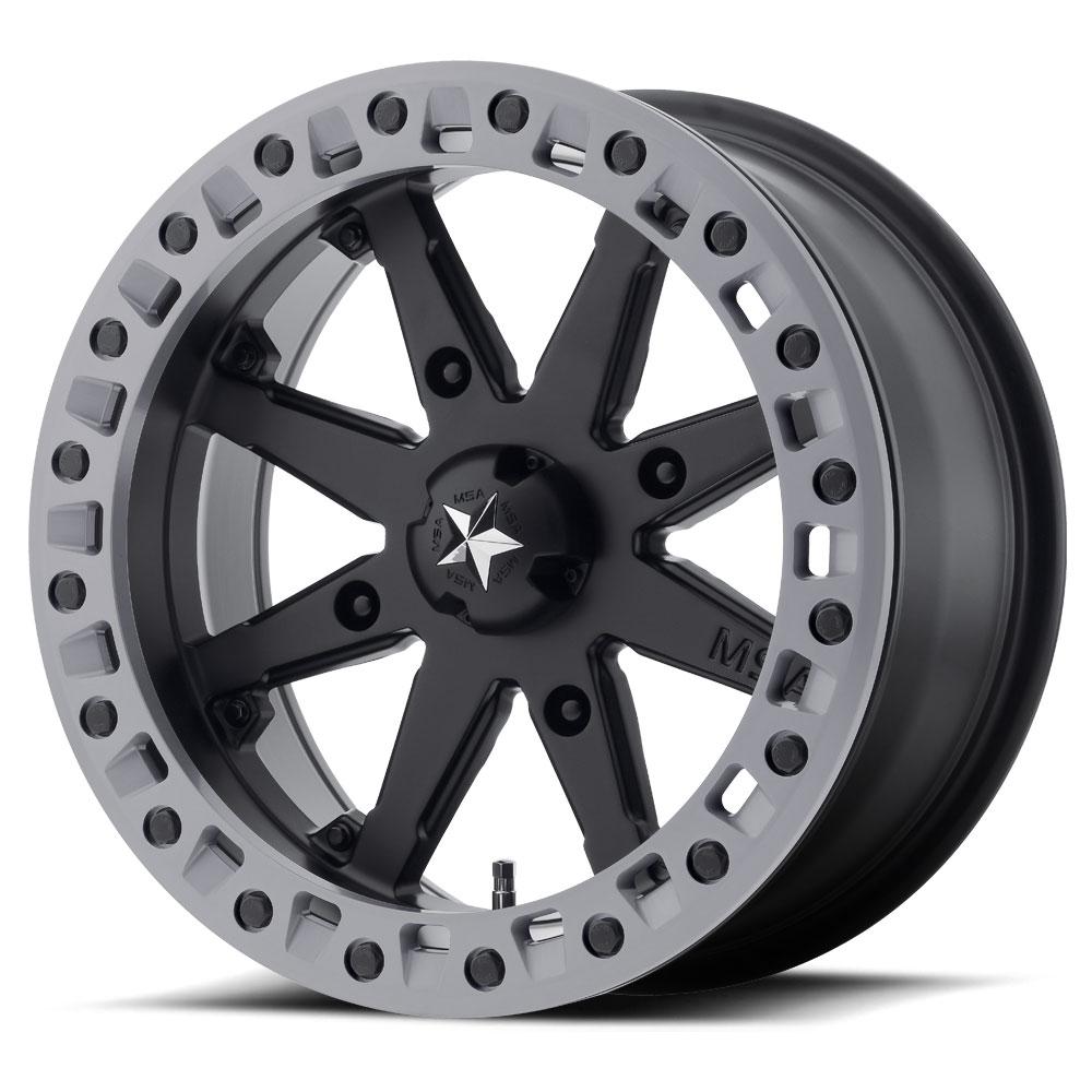 14HB92710 5+5 STI HD9 Beadlock Matte Black ATV Wheel 14x10 4//137